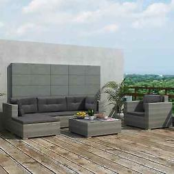 17 Pcs Outdoor Sectional Sofa Set Patio Wicker Rattan Couch