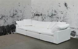 2-Pc Slipcovered Modular Sectional Sofa in Performance White