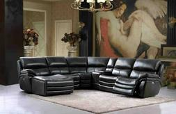 ESF 2711 Sectional Sofa with Electric Recliners, Chaise and