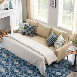 """84"""" Pull Out Sleeper Sectional Sofa Corner Sofa-Bed w/ Stora"""