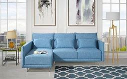 "87.8"" inches Sectional Sofa with Right Facing Chaise 3 Accen"