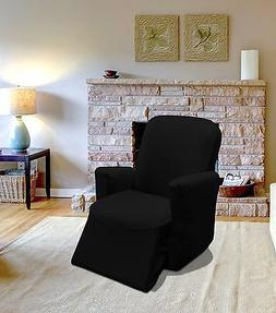 BLACK JERSEY RECLINER STRETCH SLIPCOVER, COUCH COVER, FURNIT