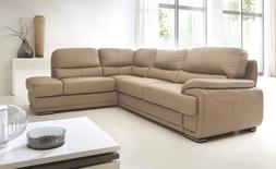 Argento Sectional Sofa Bed with Storage in Beige Color Full