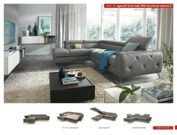 ESF Furniture Camelia Sectional with Sofa Bed and Storage, m
