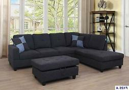 Beverly Fine Furniture F125A Left Facing Linen Russes Sectio
