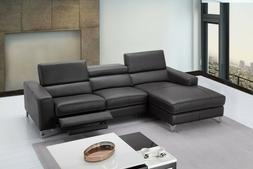J&M Furniture Ariana Premium Leather Sectional in Left Hand
