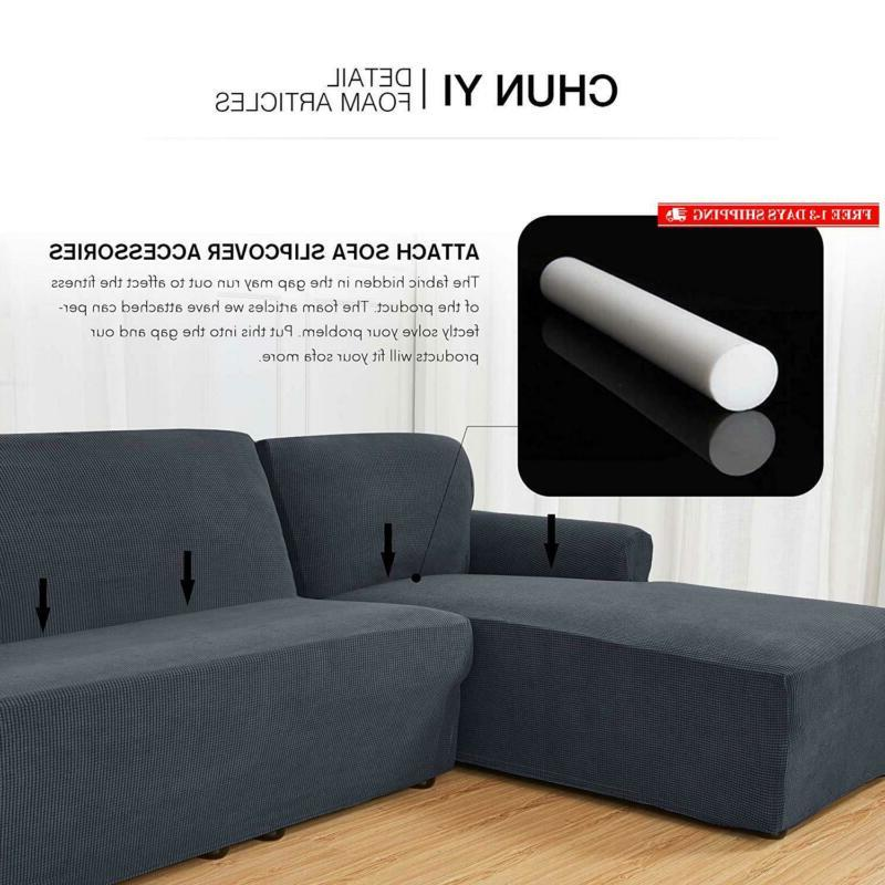 Chun Pieces L-Shaped Stretch Fabric Sectional