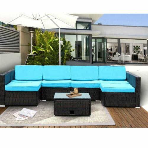 7PCS Sectional Sofa Couch
