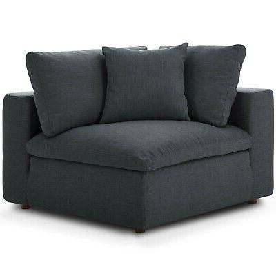 Modway Down Filled Overstuffed 8 Sofa EEI-3363-GRY