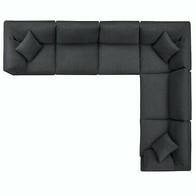 Modway Commix Down Overstuffed Sectional Sofa Set EEI-3361-GRY