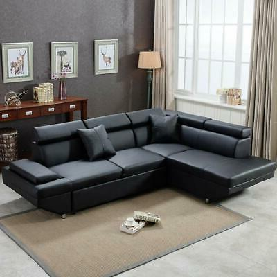 Contemporary Sectional Modern Bed with Functional Back L