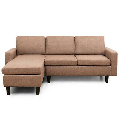 Convertible Couch Linen Couch Chaise Coffee