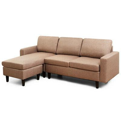 convertible sectional sofa couch linen l shaped