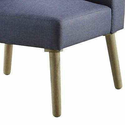 Benjara Fabric with Legs and Center Back,