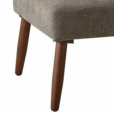 Benjara Fabric Sectional Sofa with Legs, Brown and ...