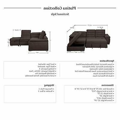 Homelegance Sectional Sofa with Bed and