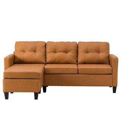 PU Couch Living Room Brown