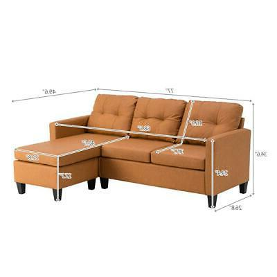 Hot Sectional Sofa PU Couch Room