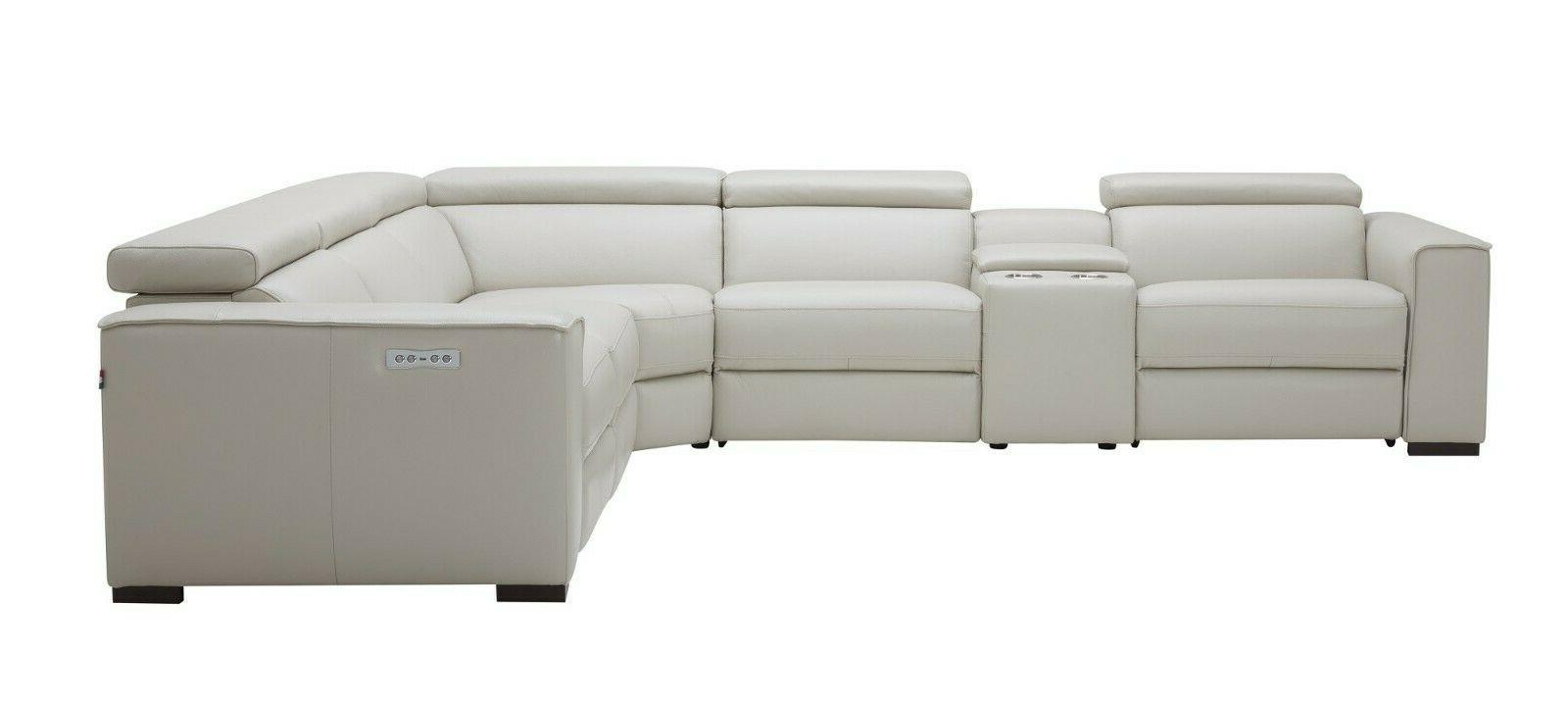 J&M Picasso Gray Motion Sectional Pcs