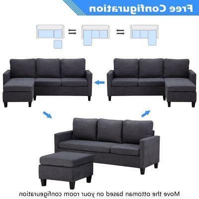New Sectional Couch Couch w/ Back