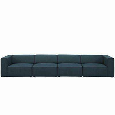 """Modway Mingle 156"""" Upholstered in Blue"""