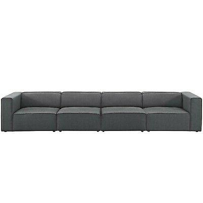 Modway 4 Upholstered Sectional Set EEI-2829-GRY