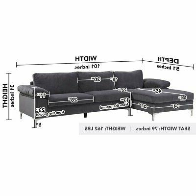 Modern Large Sectional L-Shape Wide Chaise Lounge