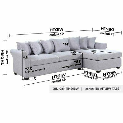Grey Chaise Facing
