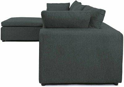Modular Sectional L-Shape Couch Table Tray, Grey