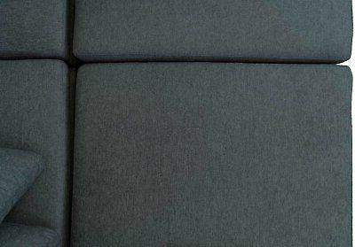 Modular Sofa Configurable Sectional Couch Wood Table & Tray, Grey