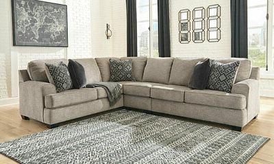 NEW Furniture - Brown Sectional Sofa Couch Set IG0X