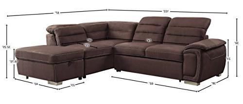 Homelegance Sofa with Bed and Fabric