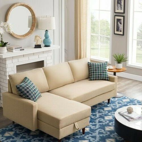 Pull out Sleeper Sofa Bed,Modern sofa-bed with storage