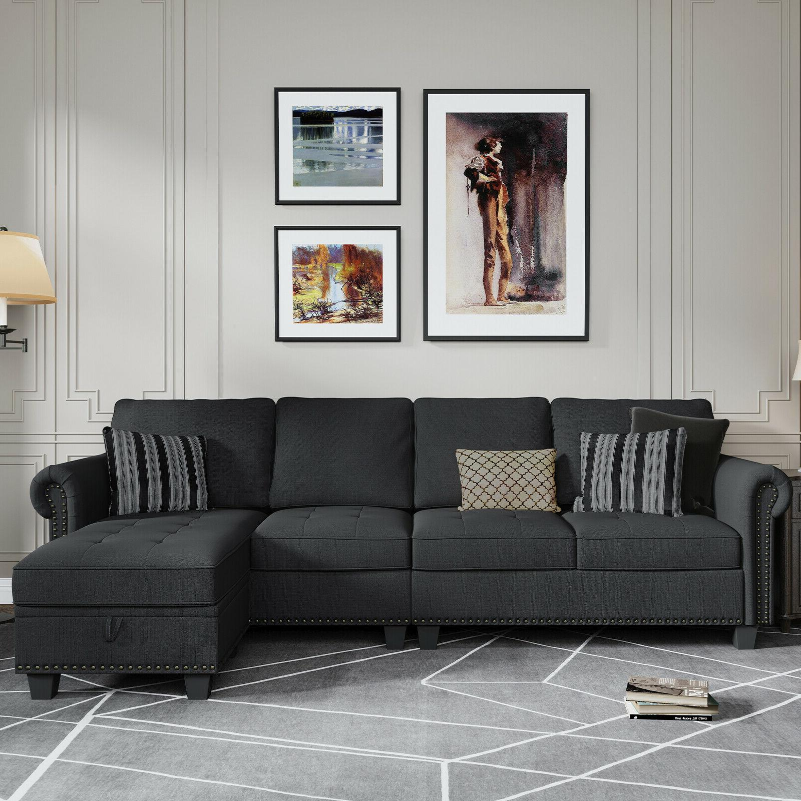 sectional sofa convertible couch l shape sofa