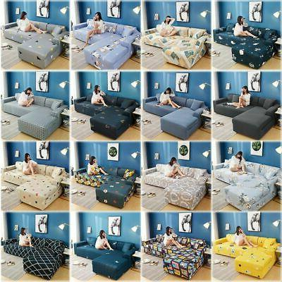 Sofa Slipcover for L Elastic Fabric Sofa Couch