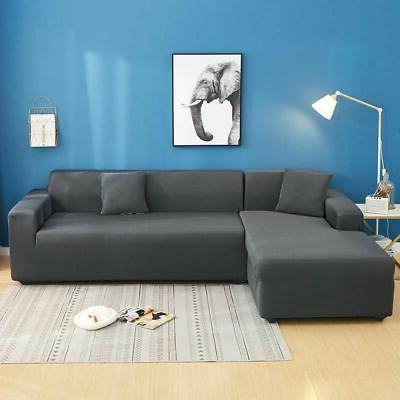 Sofa Slipcover L Shape Stretch Fabric Sofa Couch Cover