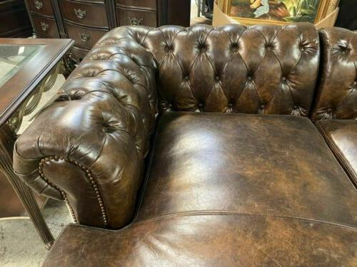 Classic Chesterfield Micro Leather Sofas
