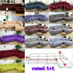 L Shape 3+3 Seaters Sectional Sofa Slipcovers / 3-Seater Sof