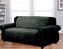 Dormire Microsuede Quilted Furniture Protector for Loveseat