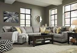 NEW 4 piece Living Room Furniture Sectional - Gray Microfibe