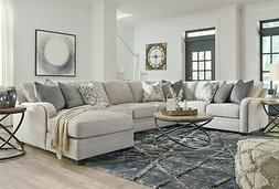 NEW 5pcs Sectional Living Room Furniture - Light Gray Fabric