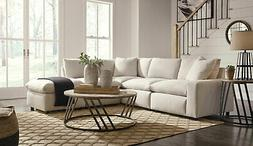NEW Living Room Modular Sectional - 5pcs Off White Fabric So