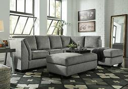 NEW Modern Sectional Living Room Gray Fabric Sofa Couch Slee