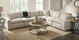 NEW Modular Sectional Living Room Furniture - 6pcs Off White