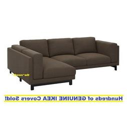 IKEA NOCKEBY Loveseat  with Chaise RIGHT Cover Slipcover TEN