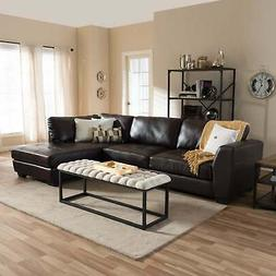 orland modern leather upholstered tufted right facing