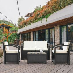 Outsunny 7 Piece Outdoor Patio Rattan Wicker Sofa Sectional