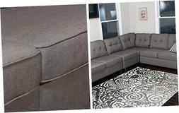 Sectional Sofa, Brown Grey