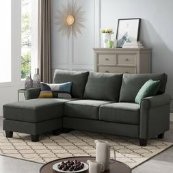 Sectional Sofa Convertible Couch L Shape Sofa Couch 3-seat G