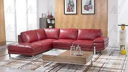 Sectional Sofa Right Hand Chase Italian Leather 2pcs America